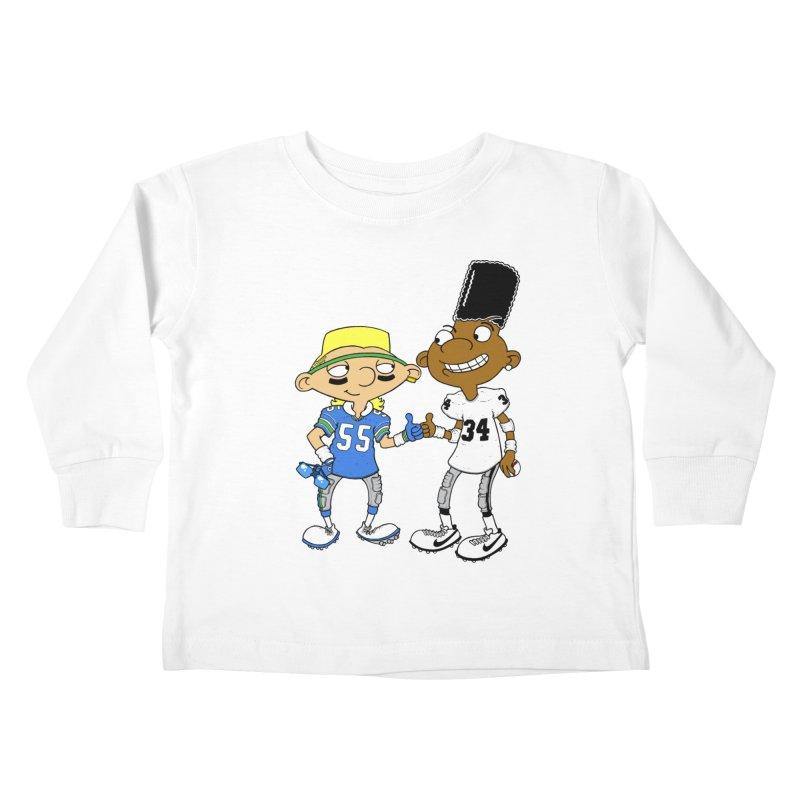 Hey Bo n' Boz Kids Toddler Longsleeve T-Shirt by Adam Ballinger Art