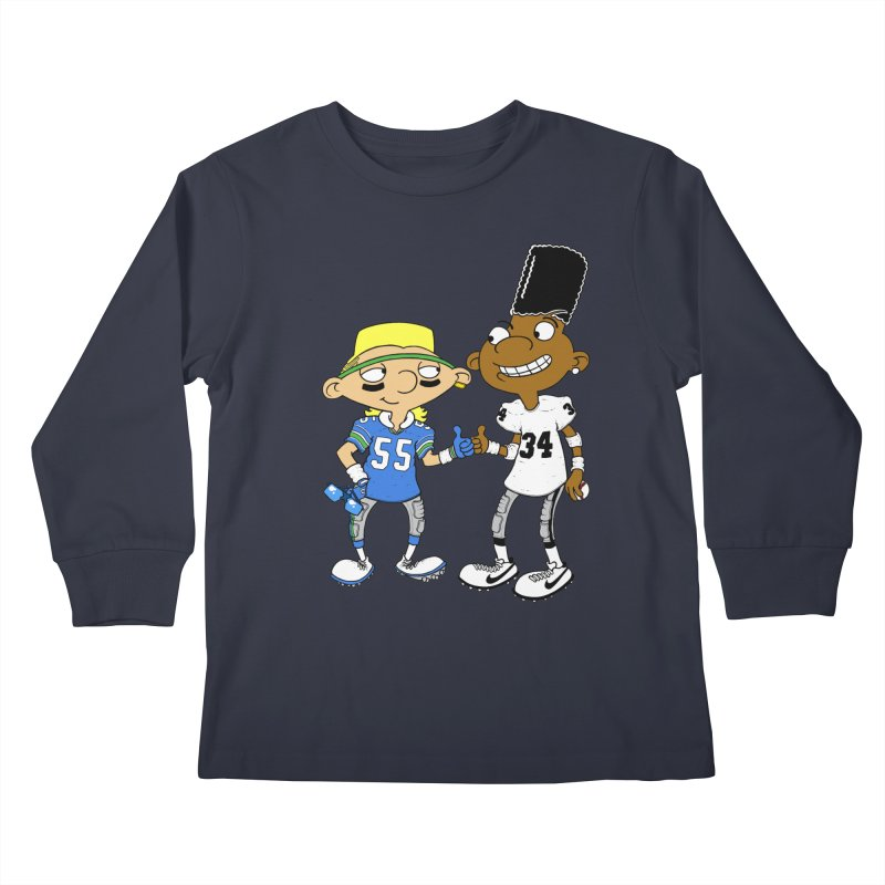 Hey Bo n' Boz Kids Longsleeve T-Shirt by Adam Ballinger Artist Shop