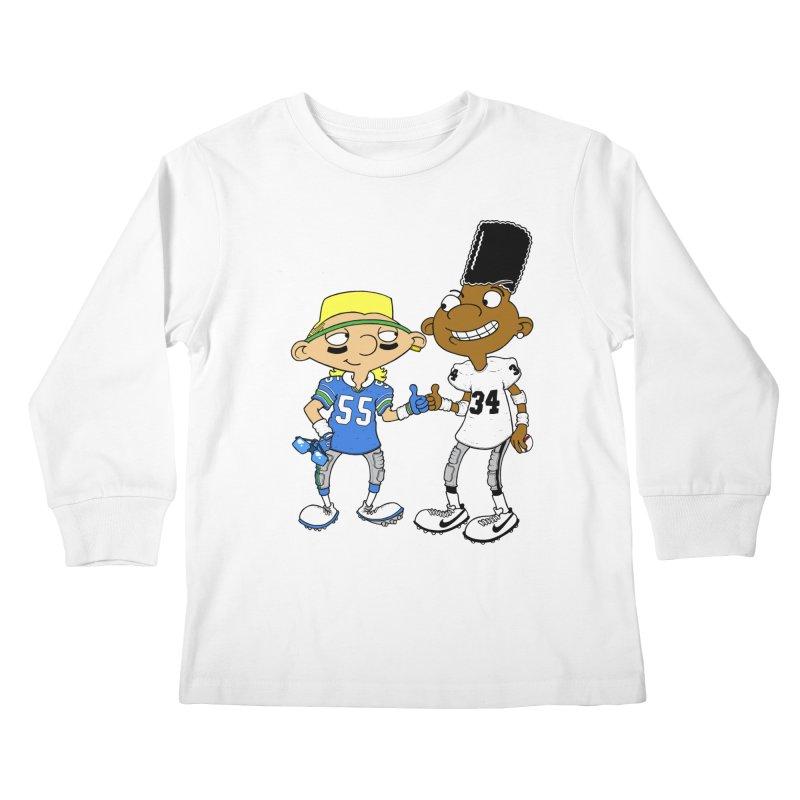 Hey Bo n' Boz Kids Longsleeve T-Shirt by Adam Ballinger Artist Shop