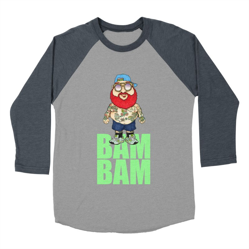 Bam Bam Women's Baseball Triblend T-Shirt by Adam Ballinger Artist Shop