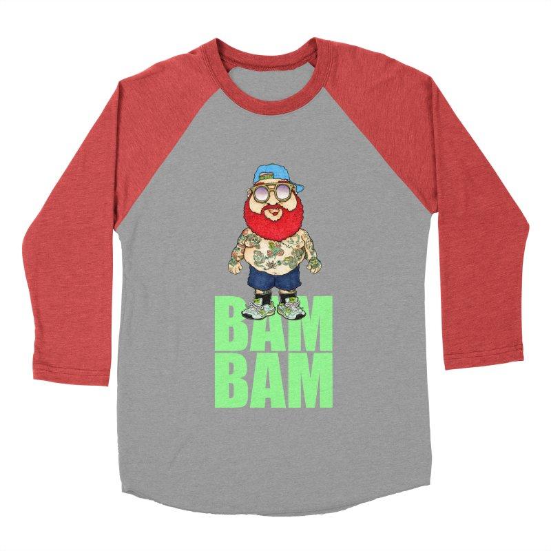 Bam Bam Men's Baseball Triblend T-Shirt by Adam Ballinger Artist Shop