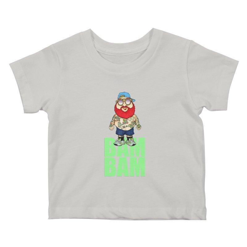 Bam Bam Kids Baby T-Shirt by Adam Ballinger Artist Shop