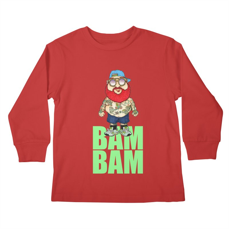 Bam Bam Kids Longsleeve T-Shirt by Adam Ballinger Artist Shop