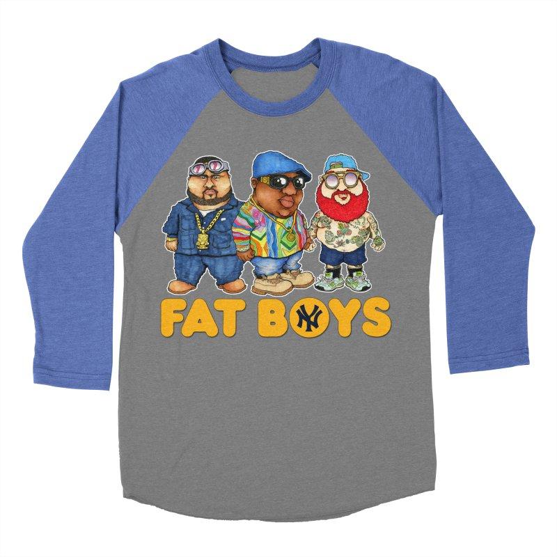 FAT BOYZ Men's Baseball Triblend T-Shirt by Adam Ballinger Artist Shop