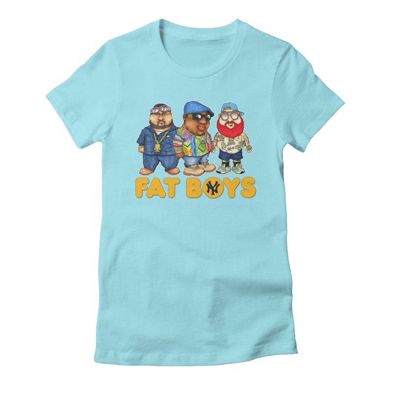 FAT BOYZ Women's Fitted T-Shirt by Adam Ballinger Artist Shop