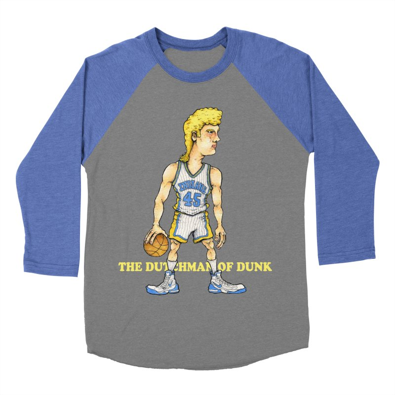 The Dunking Dutchman Men's Baseball Triblend T-Shirt by Adam Ballinger Artist Shop