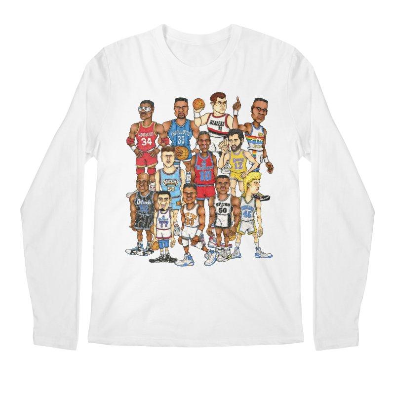 90's BIG FELLAS Men's Longsleeve T-Shirt by Adam Ballinger Artist Shop
