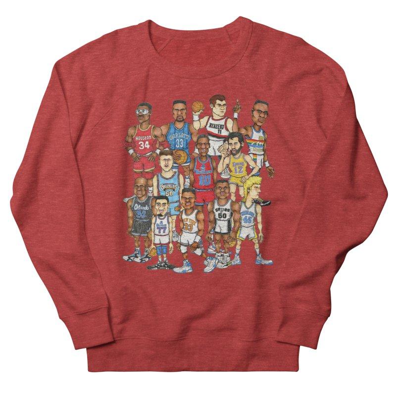 90's BIG FELLAS Women's Sweatshirt by Adam Ballinger Art