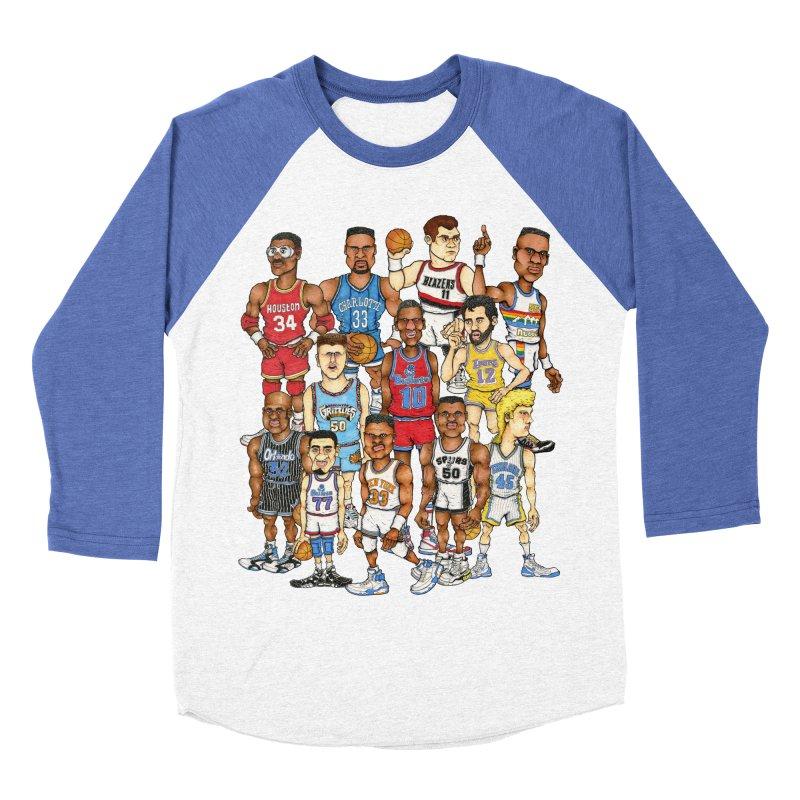 90's BIG FELLAS Women's Baseball Triblend T-Shirt by Adam Ballinger Art