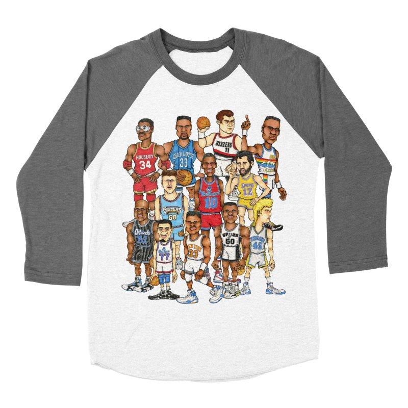 90's BIG FELLAS Men's Baseball Triblend T-Shirt by Adam Ballinger Artist Shop