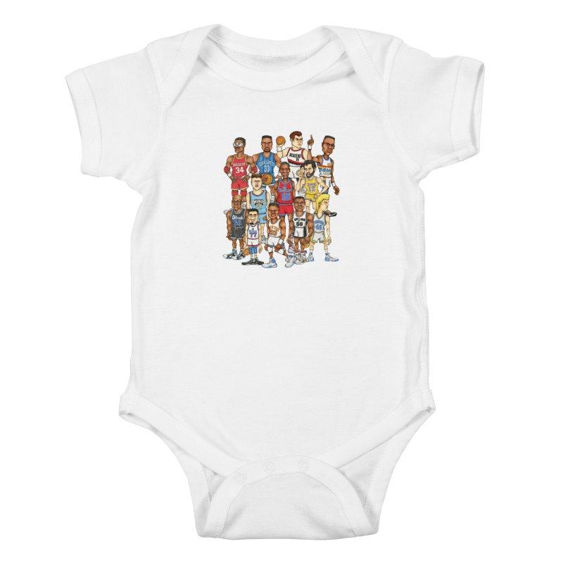 90's BIG FELLAS Kids Baby Bodysuit by Adam Ballinger Artist Shop