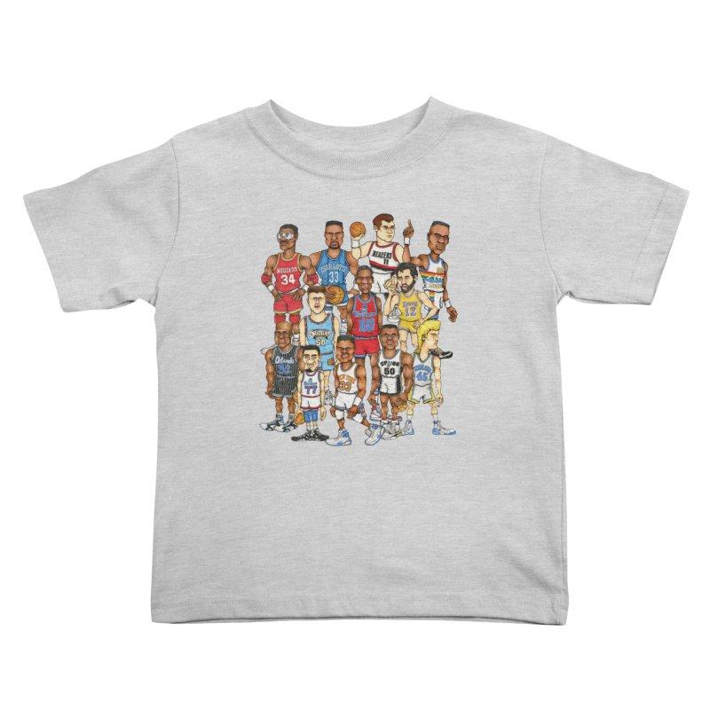 90's BIG FELLAS Kids Toddler T-Shirt by Adam Ballinger Artist Shop