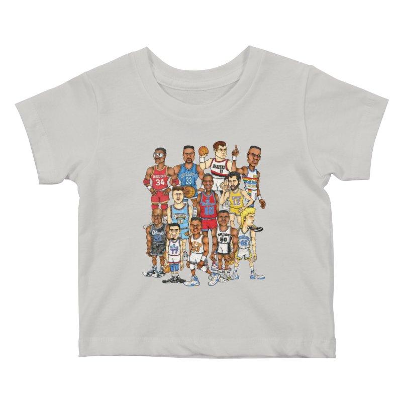 90's BIG FELLAS Kids Baby T-Shirt by Adam Ballinger Art