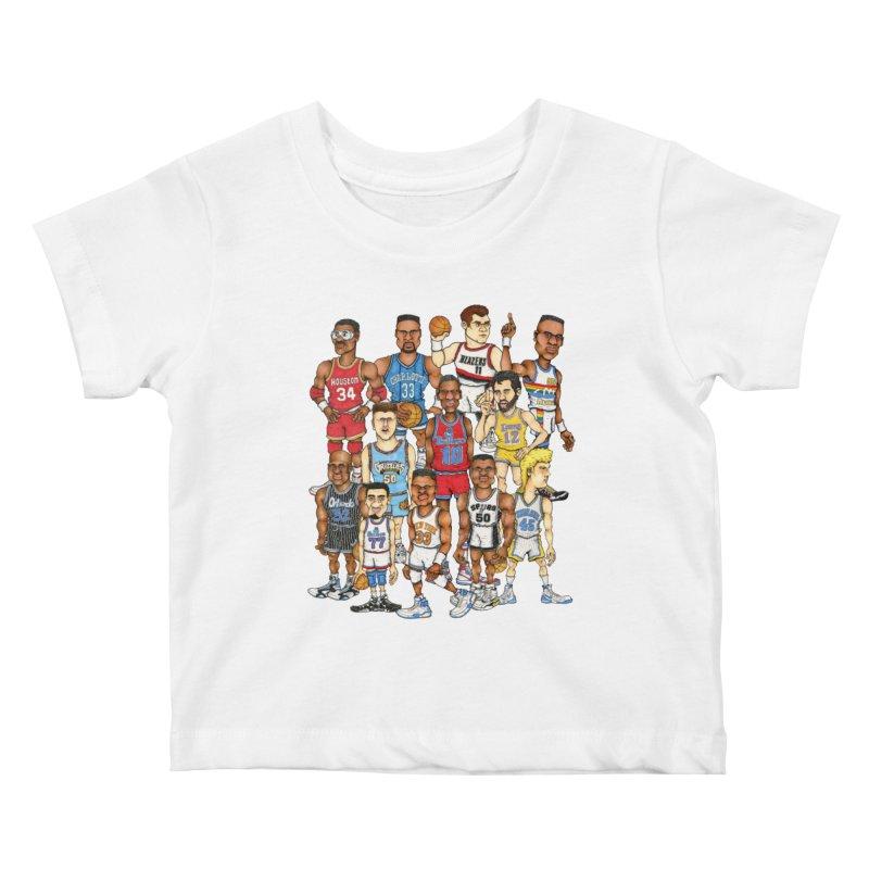 90's BIG FELLAS Kids Baby T-Shirt by Adam Ballinger Artist Shop