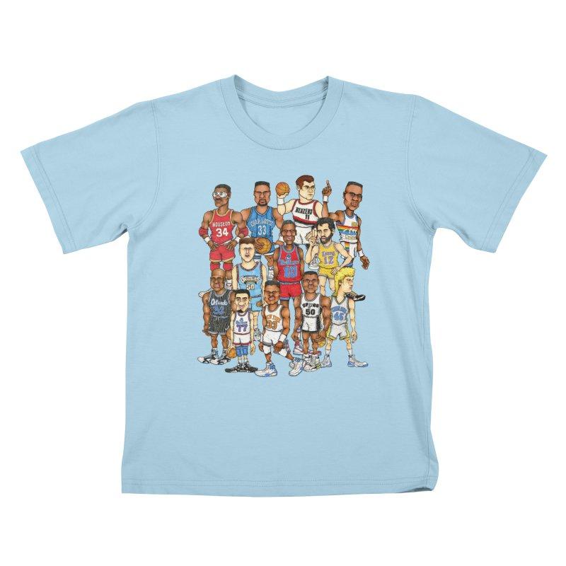 90's BIG FELLAS Kids T-shirt by Adam Ballinger Artist Shop