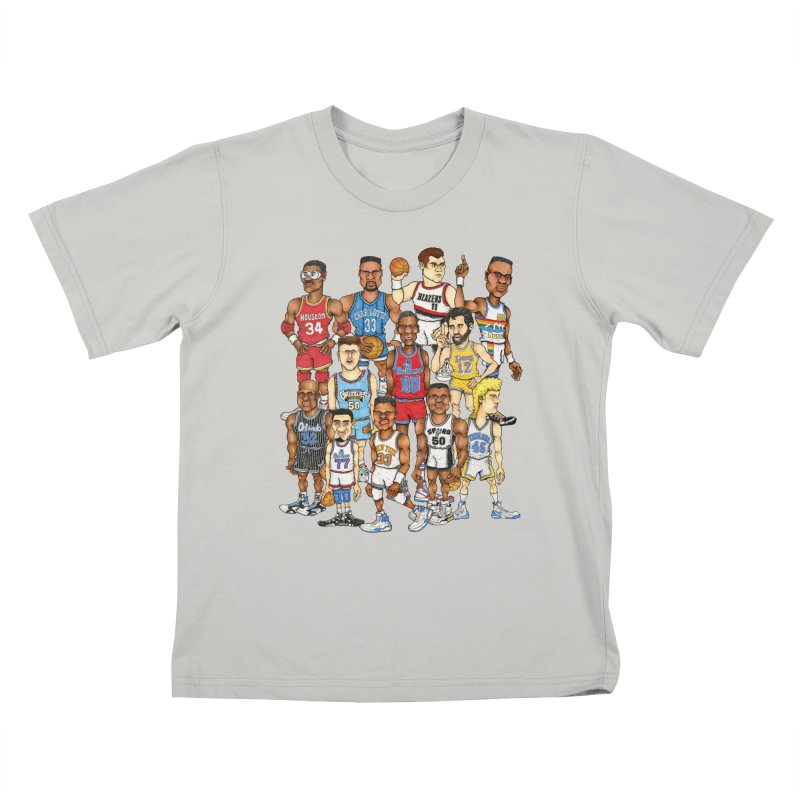 90's BIG FELLAS Kids T-Shirt by Adam Ballinger Artist Shop