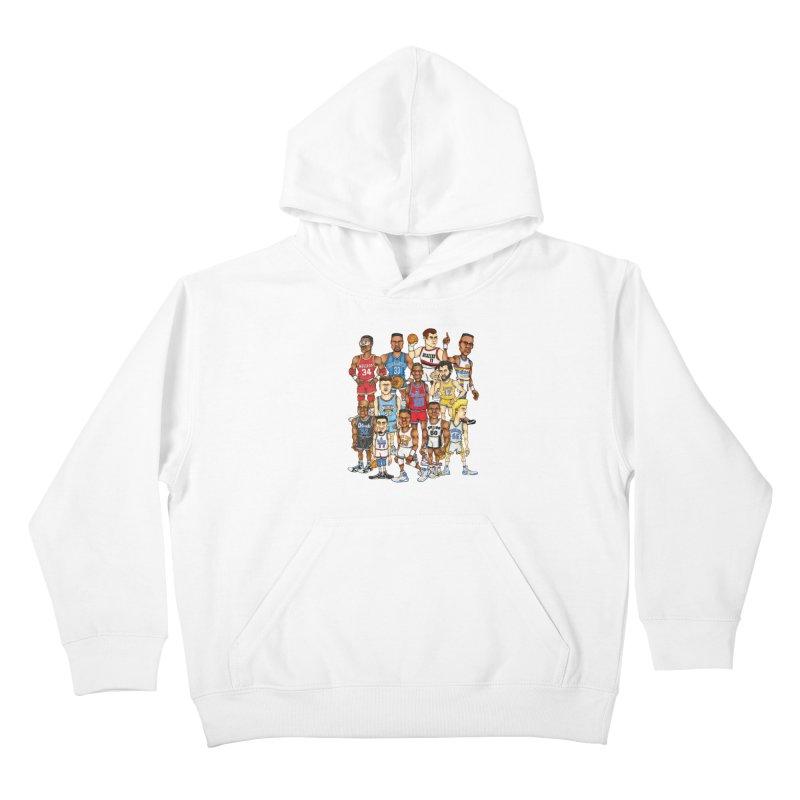 90's BIG FELLAS Kids Pullover Hoody by Adam Ballinger Artist Shop