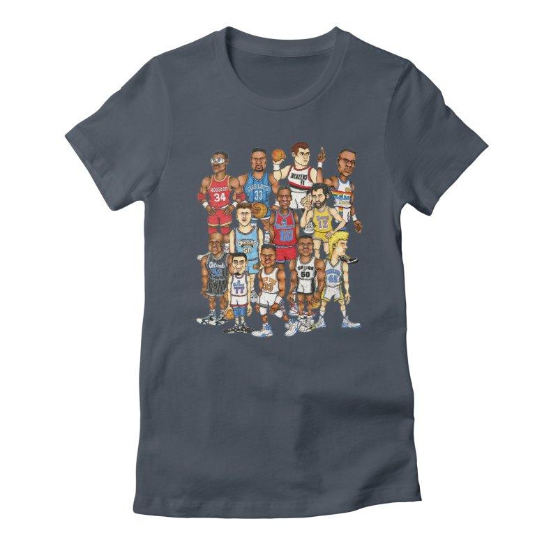 90's BIG FELLAS Women's Fitted T-Shirt by Adam Ballinger Artist Shop