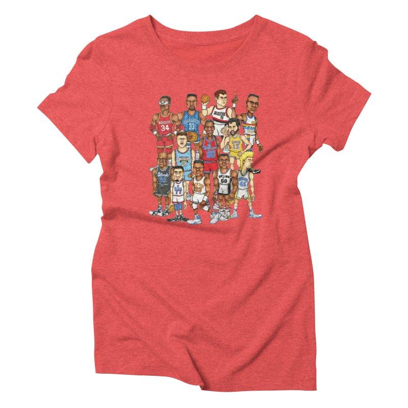 90's BIG FELLAS Women's Triblend T-Shirt by Adam Ballinger Artist Shop