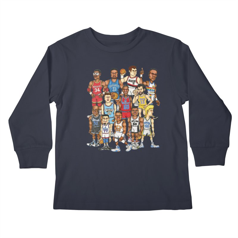 90's BIG FELLAS Kids Longsleeve T-Shirt by Adam Ballinger Artist Shop