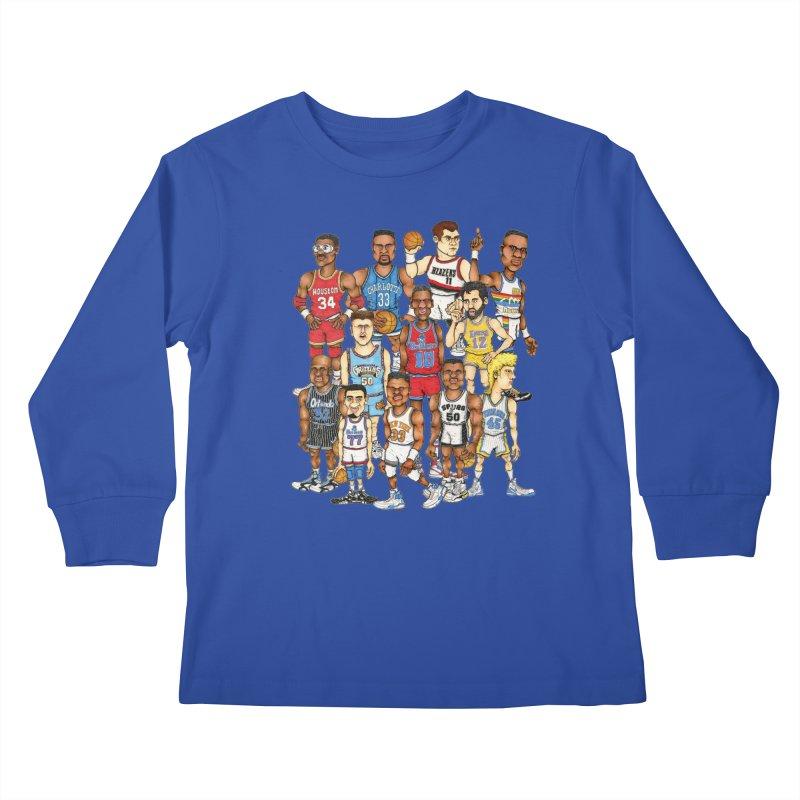 90's BIG FELLAS Kids Longsleeve T-Shirt by Adam Ballinger Artist Shop