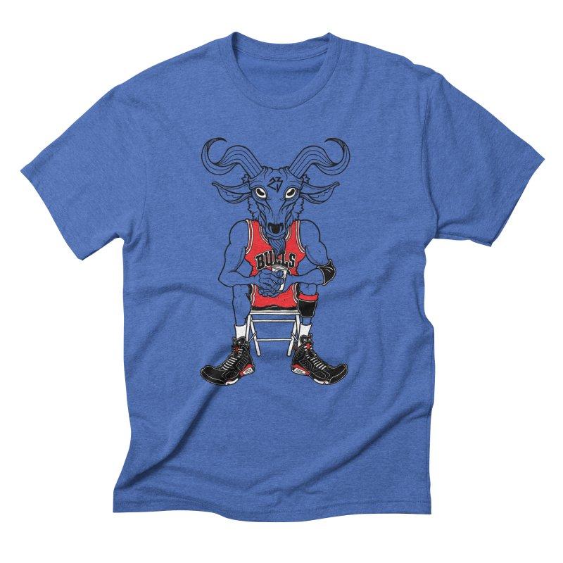 The Goat Men's Triblend T-Shirt by Adam Ballinger Art