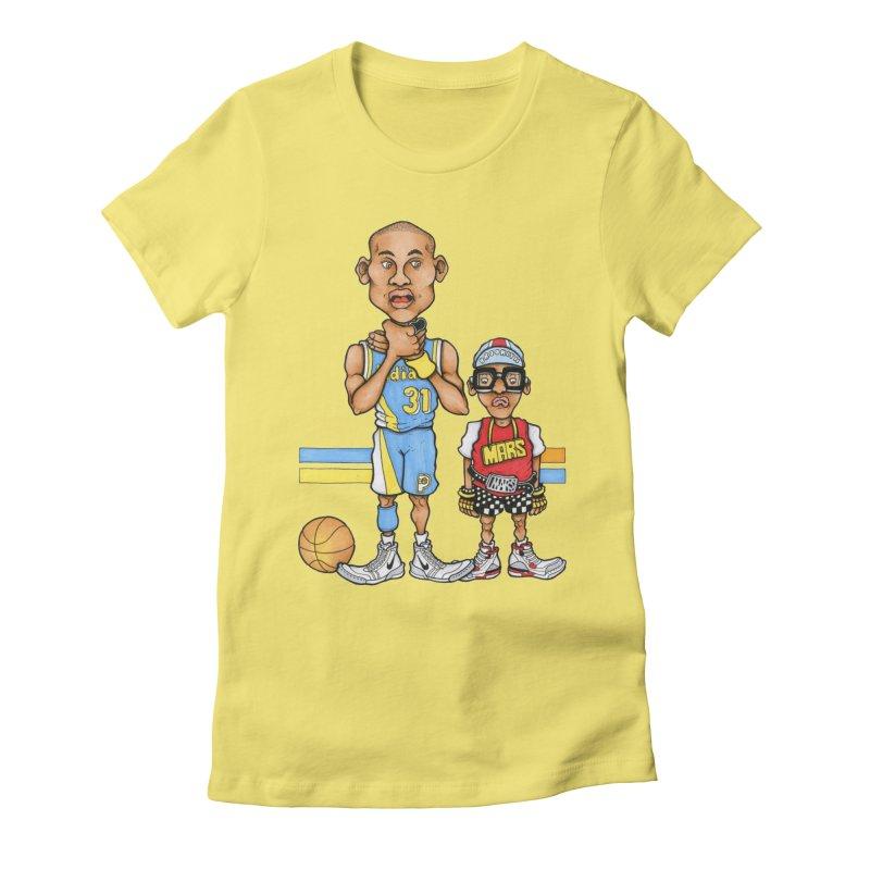sad mars Women's Fitted T-Shirt by Adam Ballinger Artist Shop