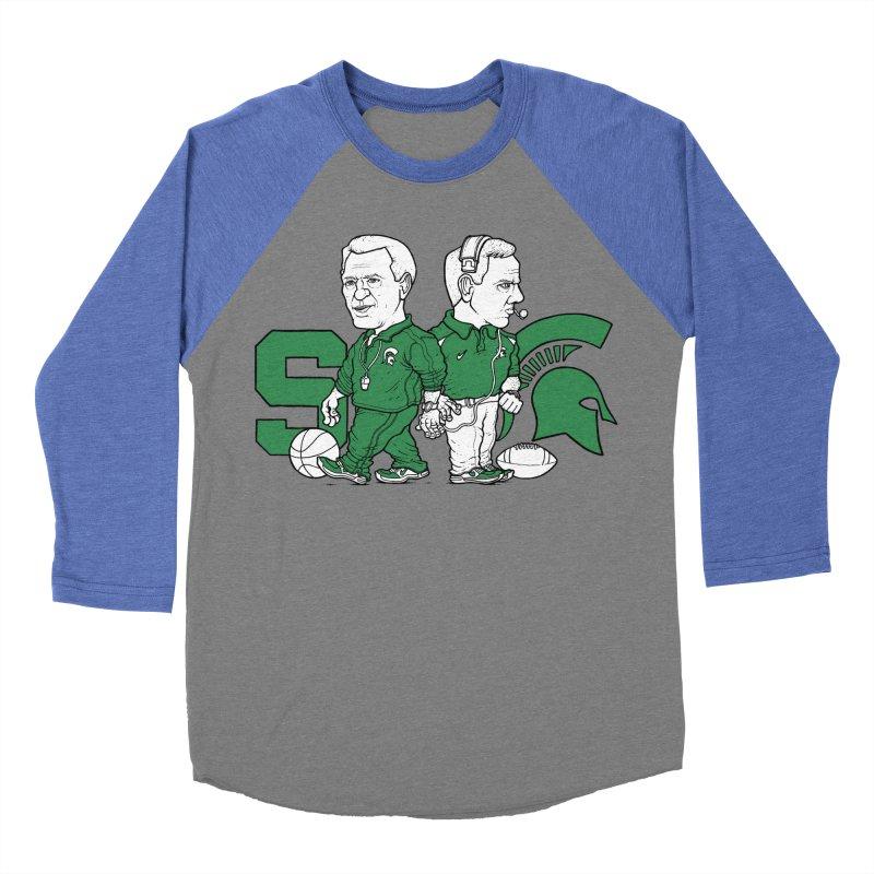Spartans Men's Baseball Triblend T-Shirt by Adam Ballinger Artist Shop