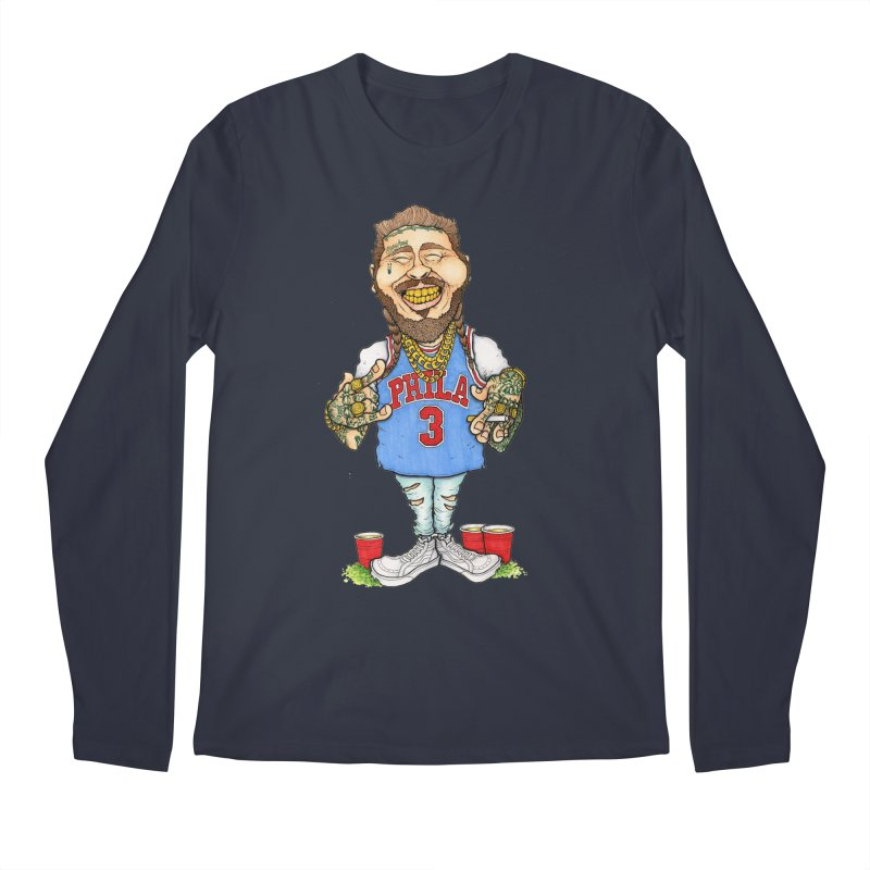 White Iverson Men's Longsleeve T-Shirt by Adam Ballinger Art