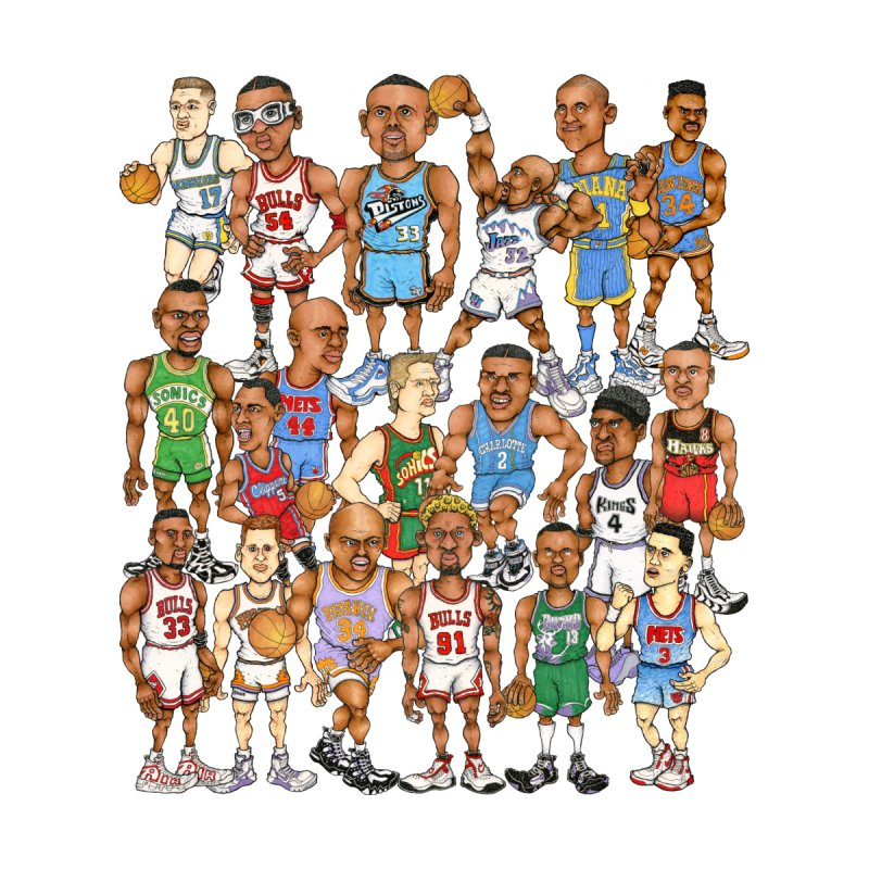 90's FORWARDS by Adam Ballinger Art