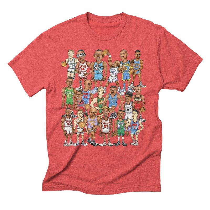 90's FORWARDS Men's Triblend T-Shirt by Adam Ballinger Art