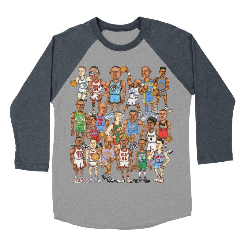 90's FORWARDS Men's Baseball Triblend T-Shirt by Adam Ballinger Art