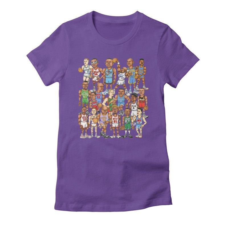 90's FORWARDS Women's Fitted T-Shirt by Adam Ballinger Art