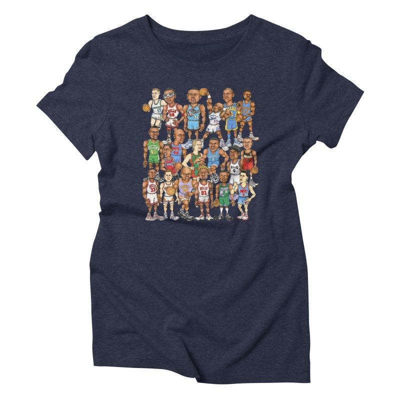 90's FORWARDS Women's Triblend T-Shirt by Adam Ballinger Art