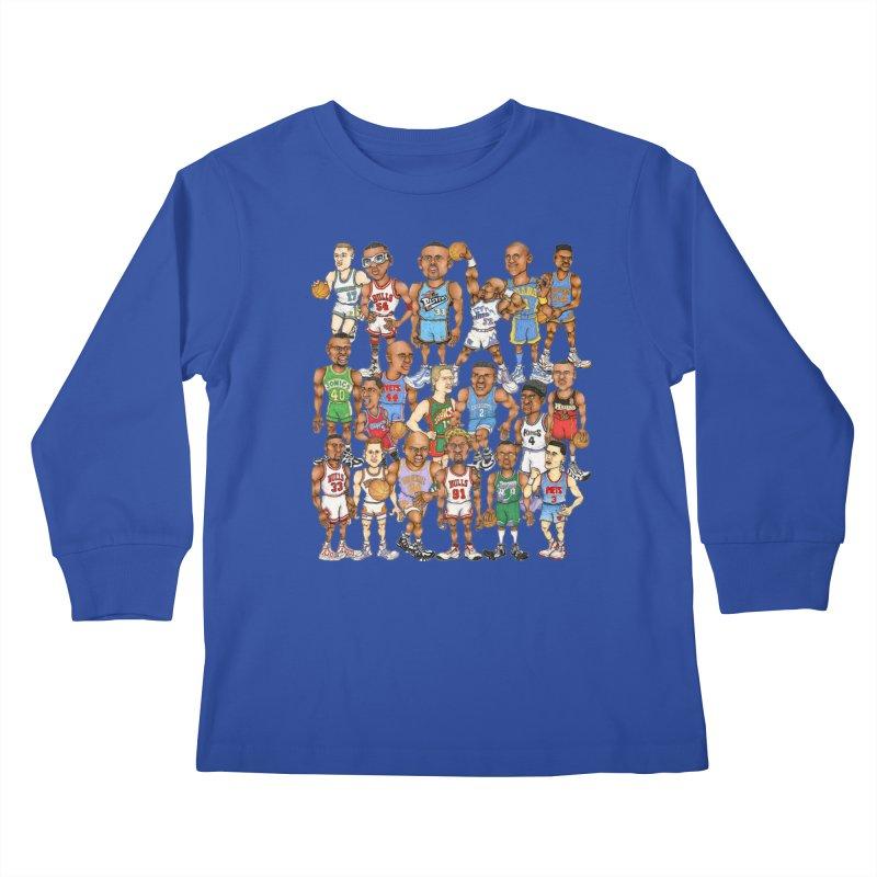 90's FORWARDS Kids Longsleeve T-Shirt by Adam Ballinger Art