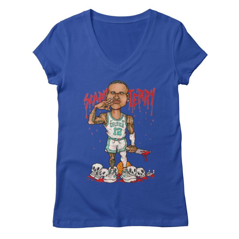 TERRY ROZIER III Women's V-Neck by Adam Ballinger Art