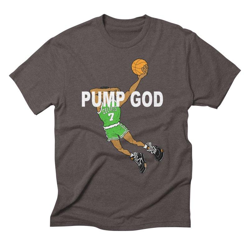 PUMP UP. AIR OUT. Men's Triblend T-Shirt by Adam Ballinger Art