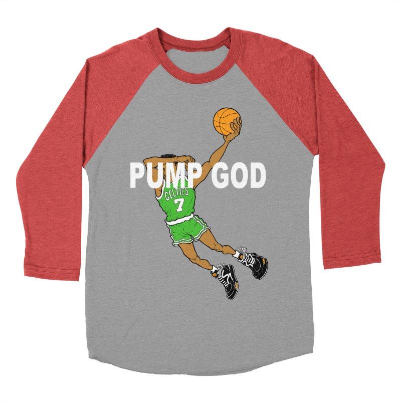 PUMP UP. AIR OUT. Men's Baseball Triblend T-Shirt by Adam Ballinger Art
