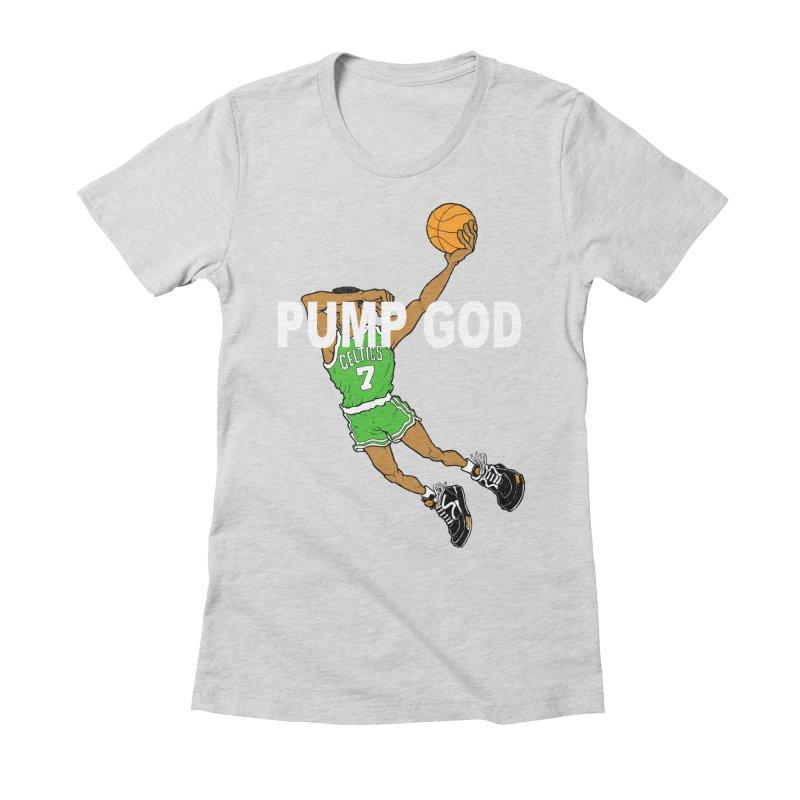 PUMP UP. AIR OUT. Women's Fitted T-Shirt by Adam Ballinger Art