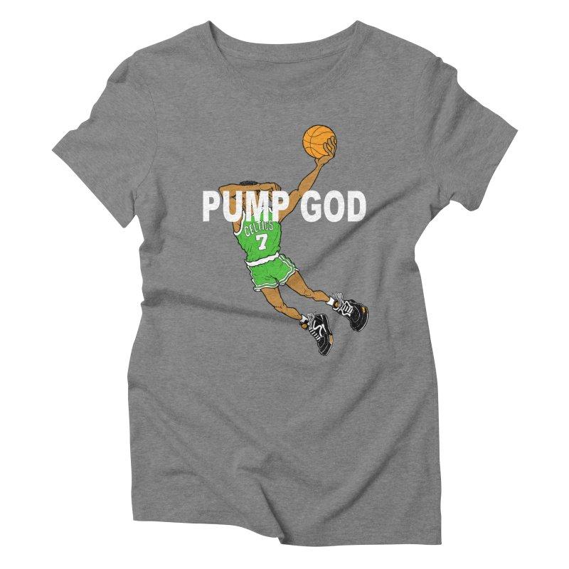 PUMP UP. AIR OUT. Women's Triblend T-Shirt by Adam Ballinger Art