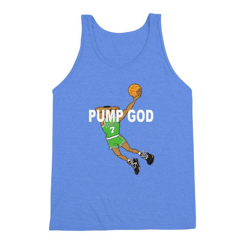 PUMP UP. AIR OUT. Men's Triblend Tank by Adam Ballinger Art