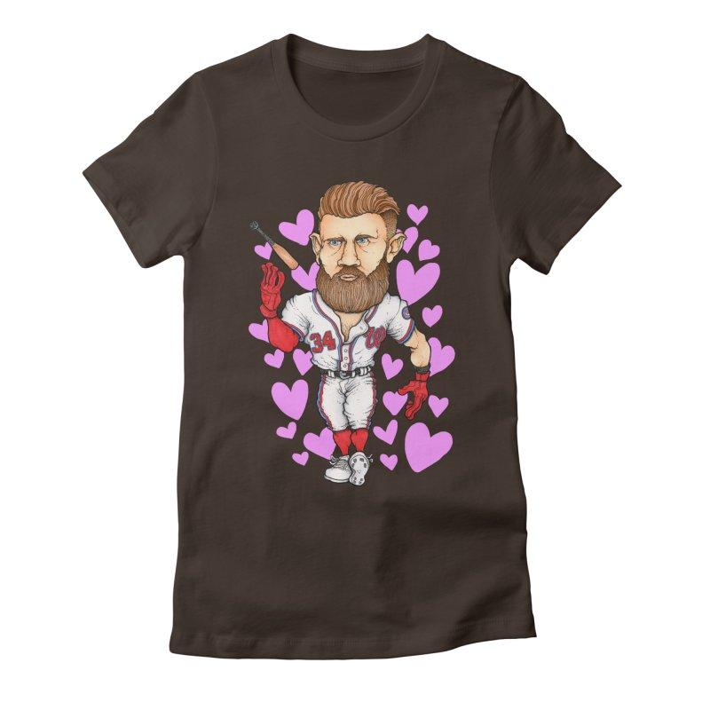 Bat Flippin' Sex Machine Women's Fitted T-Shirt by Adam Ballinger Art