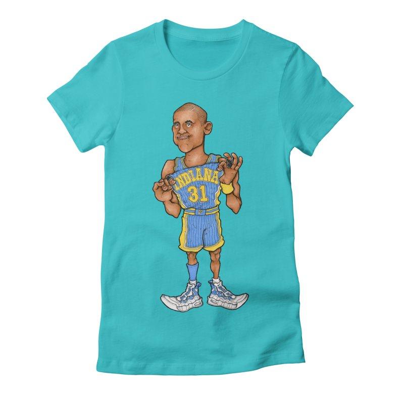 Reggie Women's Fitted T-Shirt by Adam Ballinger Art