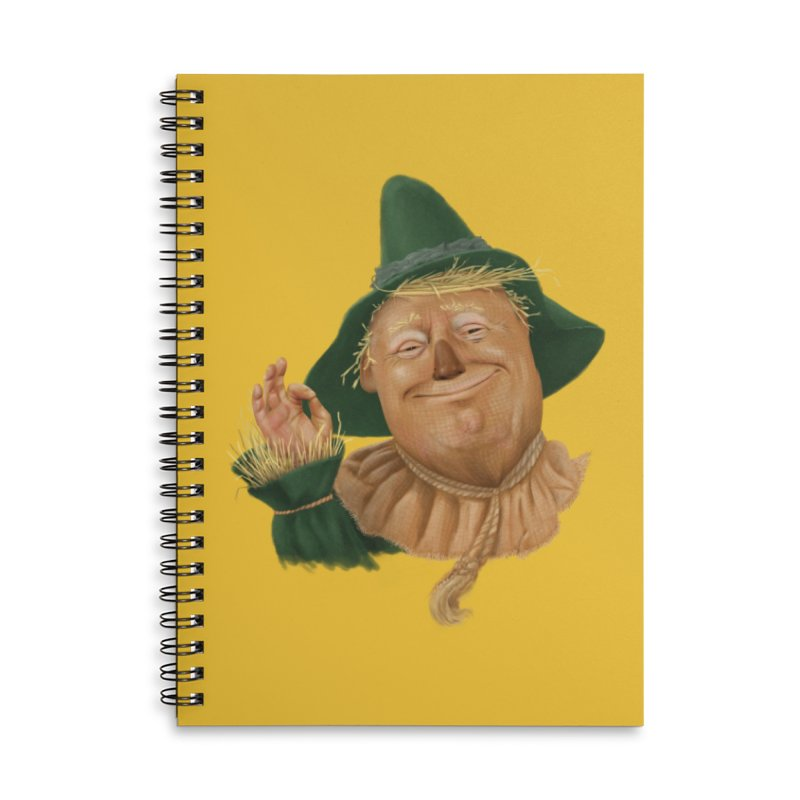 If I Only had a Brain Accessories Lined Spiral Notebook by Adam Celeban's Shop