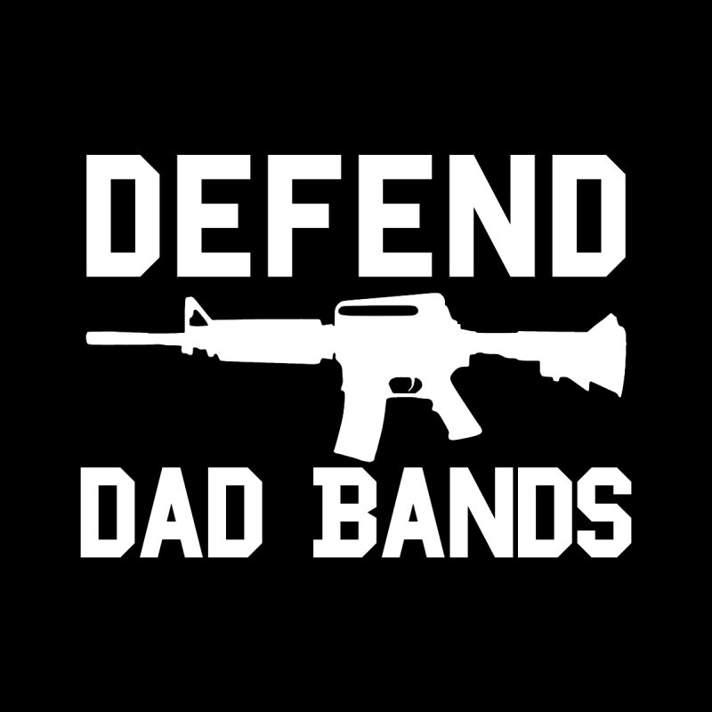 Defend Dad Bands - White Accessories Notebook by adamj's Artist Shop
