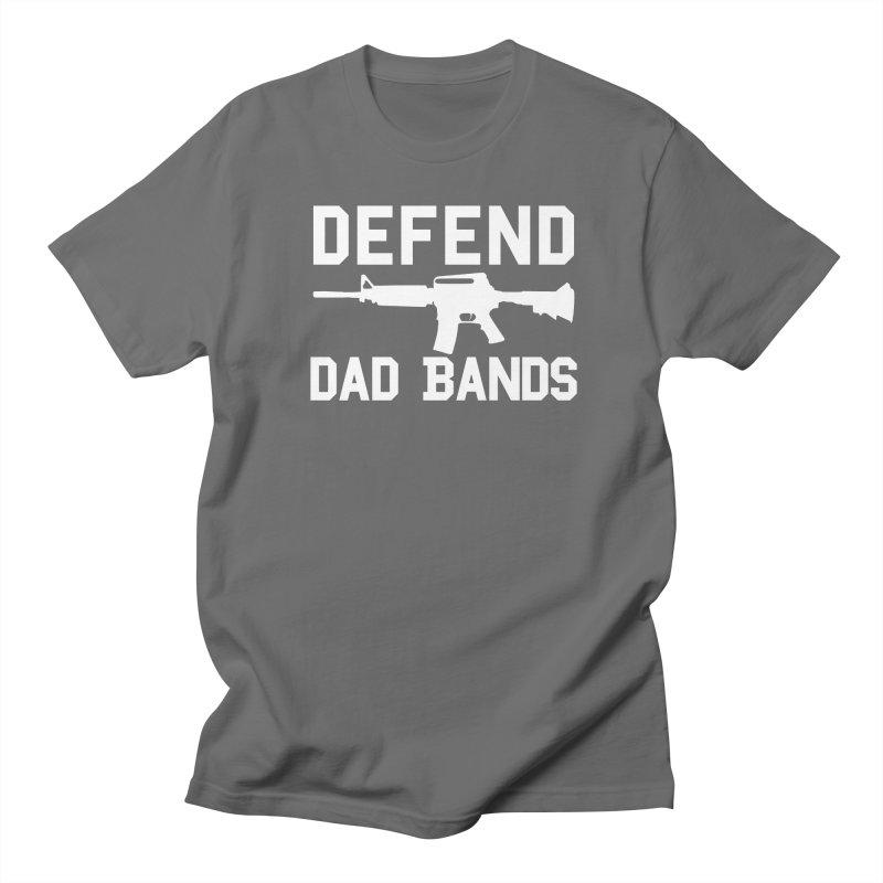 Defend Dad Bands - White Men's T-Shirt by adamj's Artist Shop