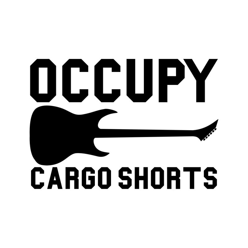 Occupy Cargo Shorts - Black Accessories Bag by adamj's Artist Shop