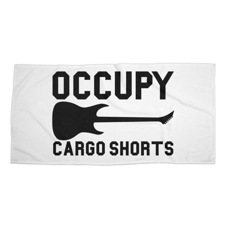 Occupy Cargo Shorts - Black Accessories Beach Towel by adamj's Artist Shop