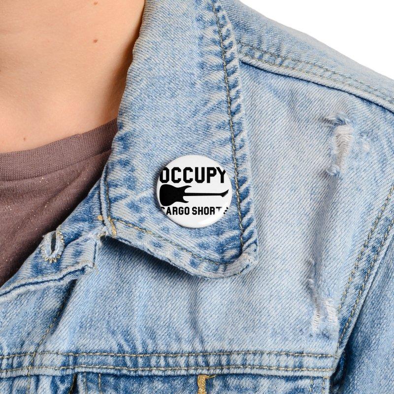 Occupy Cargo Shorts - Black Accessories Button by adamj's Artist Shop