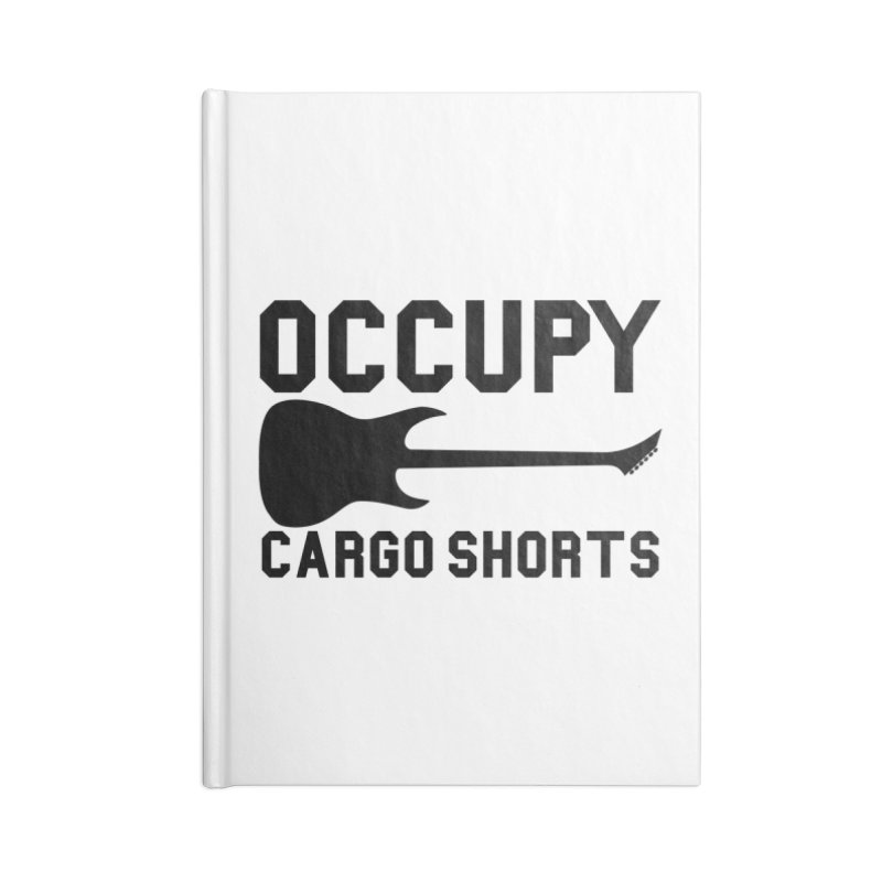 Occupy Cargo Shorts - Black Accessories Notebook by adamj's Artist Shop